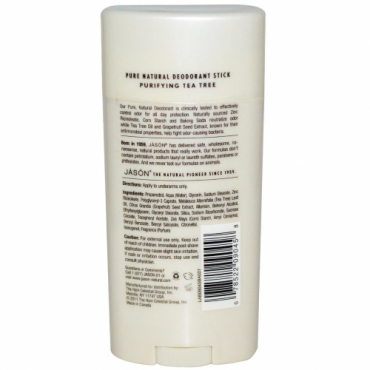 Deodorant stick anti-bacterian, cu Tea Tree, Jason, 71g
