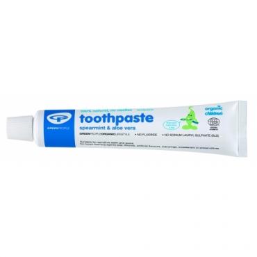 Pasta de dinti cu menta si aloe vera organica, pt. copii Green People