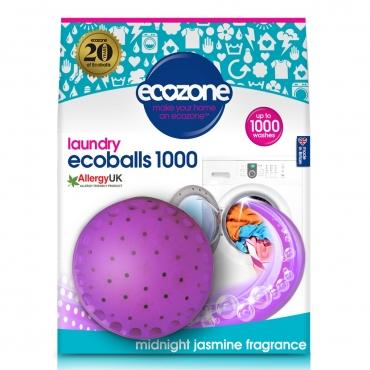 Ecoballs – Bile eco pt.spalarea rufelor, cu parfum de iasomie, 1000 spalari, Ecozone