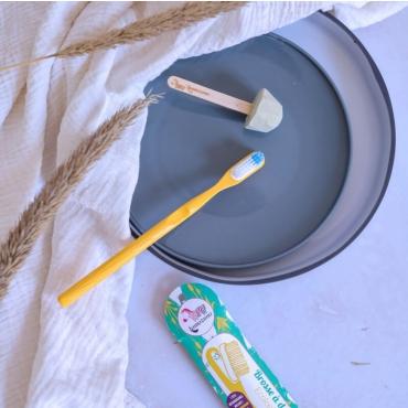 Periuta de dinti ROSU cu cap detasabil - zero waste - Lamazuna