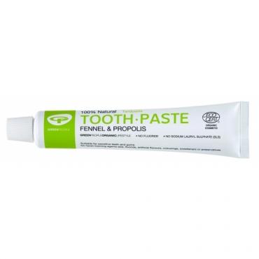 Pasta de dinti cu fenicul organic si propolis, homeopata, Green People