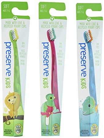 Periuta naturala de dinti Preserve pentru copii