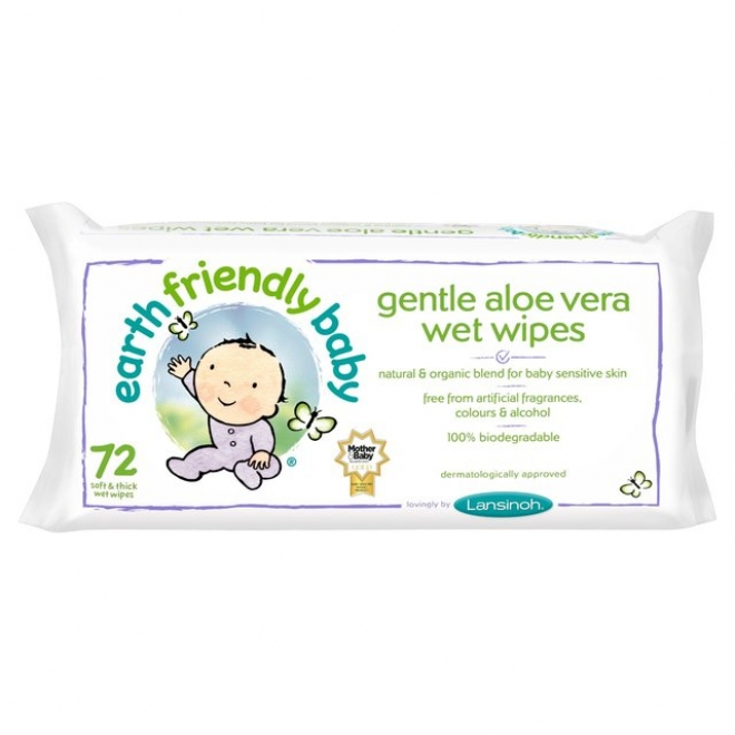 Servetele umede cu musetel si aloe vera, 72buc, Earth Friendly Baby