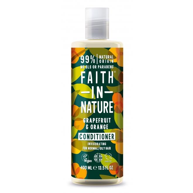 Balsam de par cu grapefruit si portocale, pt. par normal sau gras, Faith in Nature, 400 ml