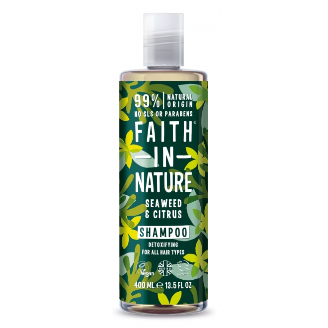 Sampon cu alge marine si citrice, pt. toate tipurile de par, Faith in Nature, 400 ml