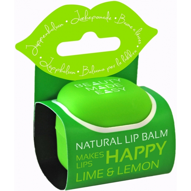 Balsam natural de buze cu lime si lamaie, 7 g, Beauty Made Easy
