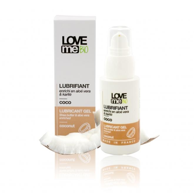 Gel lubrifiant intim, cu aroma de cocos, Love Me Bio, 50 ml