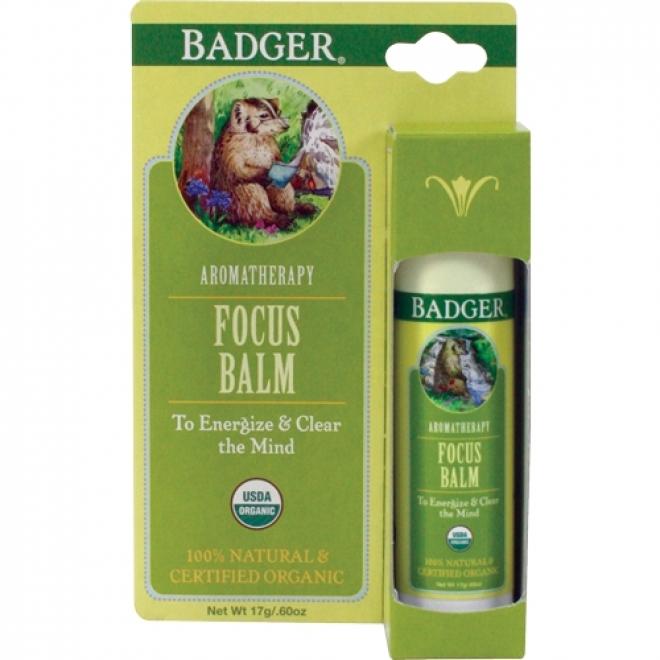 Balsam aromaterapie, Focus Mind, Badger, 17 g