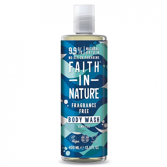 Gel de dus si spuma de baie fara miros, Faith in Nature, 400 ml
