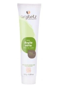 Pasta naturala de argila verde, ready-to-use, pt ten normal/gras, Argiletz 150g