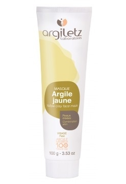 Masca naturala din argila galbena, ready-to-use, pt ten mixt, Argiletz, 100g