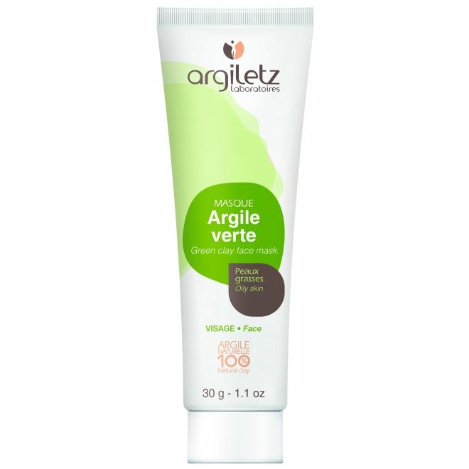 Mini masca naturala din argila verde, ready-to-use, pt ten normal/gras, Argiletz, 30g
