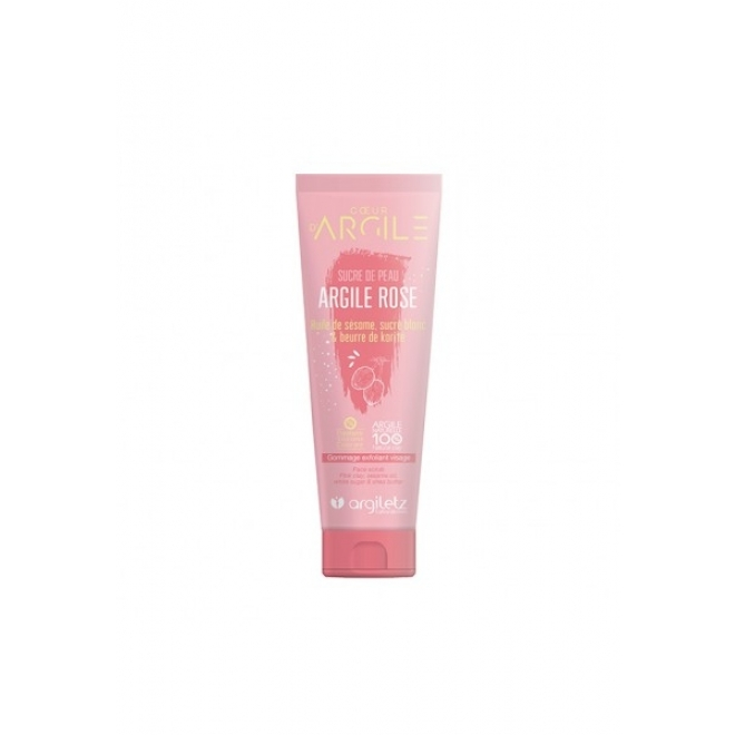 Nectar exfoliant scrub de fata cu argila roz, Argiletz, 100ml