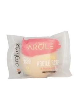 Sapun solid calmant, cu argila roz si trandafiri, Argiletz, 100g