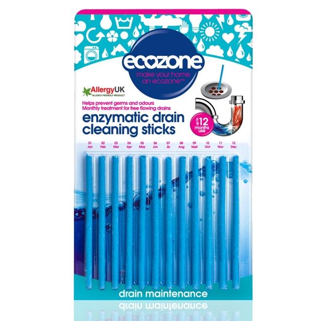 Stick pentru desfundarea tevilor si eliminarea mirosului neplacut, Ecozone, 12 buc