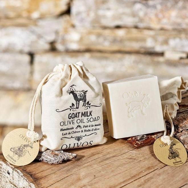 Sapun nutritiv cu lapte de capra si ulei de masline, pt. elasticitatea pielii, Olivos, 150 g