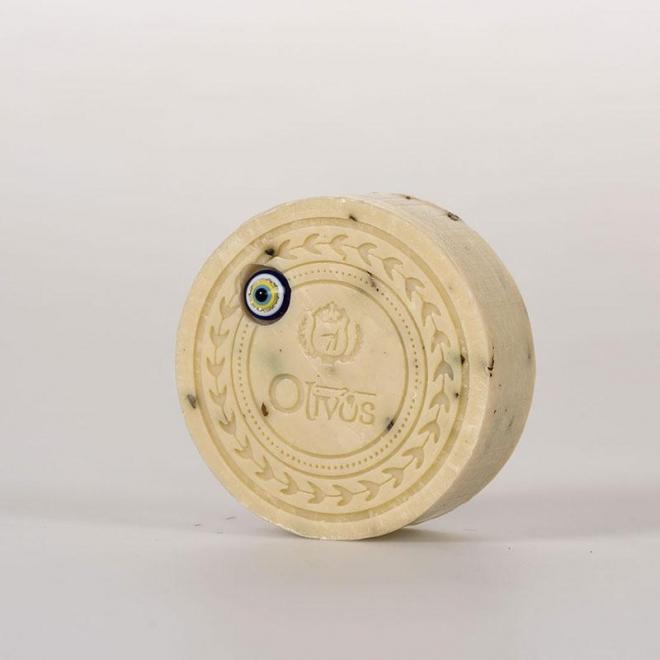 Sapun Amuleta norocoasa - Ochiul Magic - cu dafin si ulei de masline, efect anti-imbatranire, Olivos, 100 g