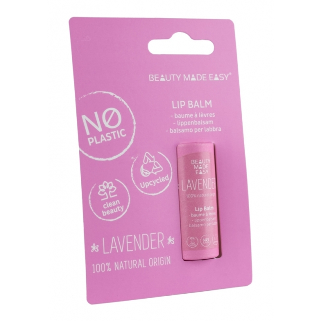 Balsam de buze zero plastic, Lavanda, Beauty Made Easy, 6 g