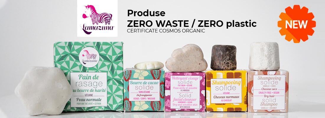LAMAZUNA / produse ZERO WASTE / ZERO plastic / certificate Cosmos Organic