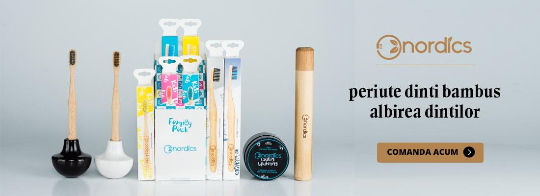 Nordics - periute dinti bambus, albirea dintilor